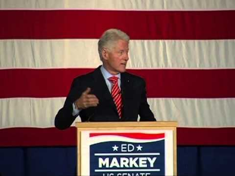 Ed Markey for US Senate - Rally with President Bill Clinton