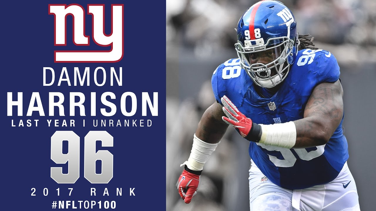 96 Damon Harrison DT Giants Top 100 Players of 2017