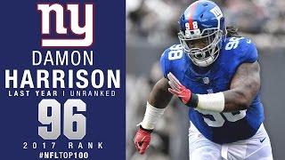 #96: Damon Harrison (DT, Giants) | Top 100 Players of 2017 | NFL