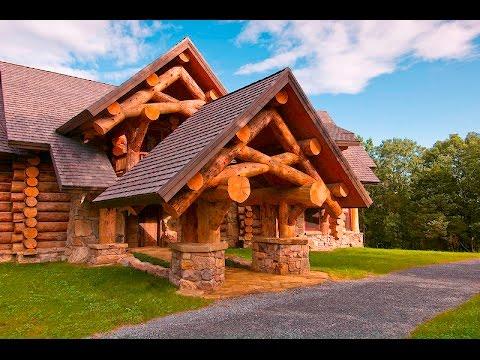 Рубленый дом из большого бревна !!!
