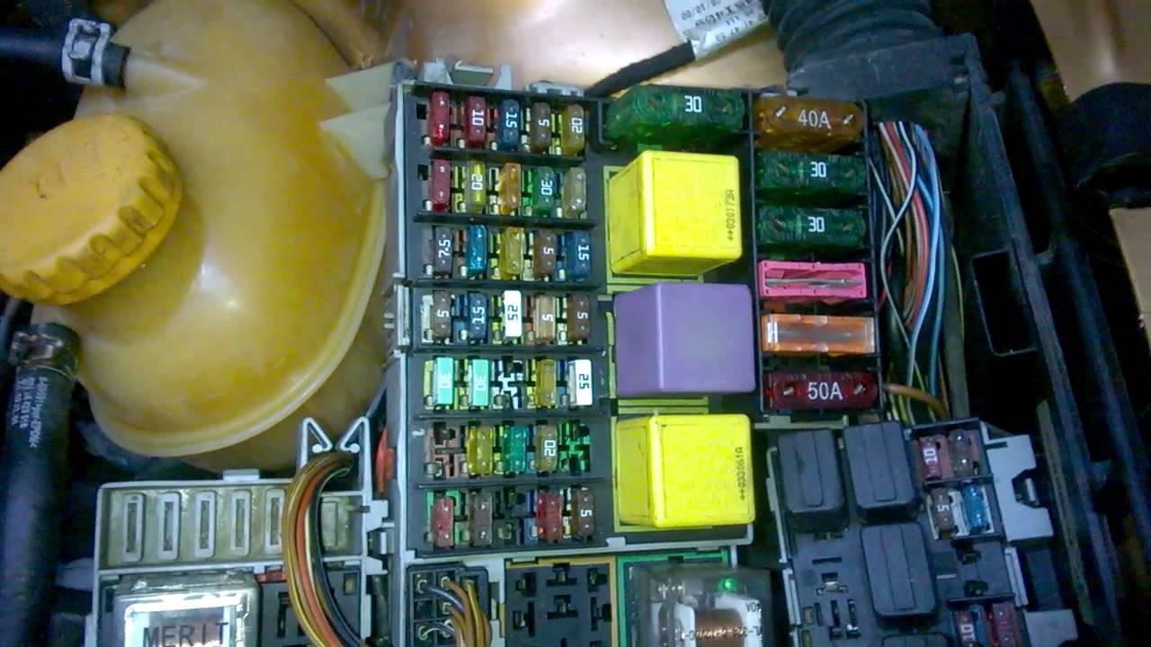 opel corsa c s gorta kutusu fuse box [ 1280 x 720 Pixel ]