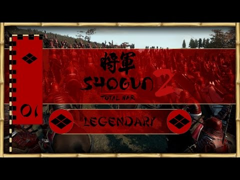 Let's Play Total War: Shogun 2 (Legendary) - Takeda - Ep.01 - Riding to Glory!