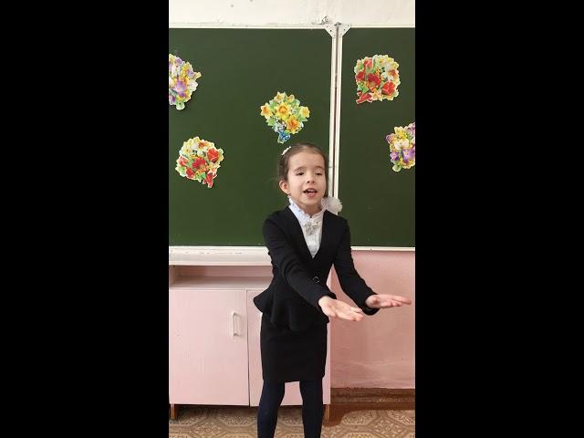 Изображение предпросмотра прочтения – СофьяБондаренко читает произведение «Весенняя песенка» А.Н.Плещеева