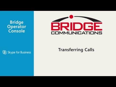 Skype for Business Attendant Console - Bridge Operator Console