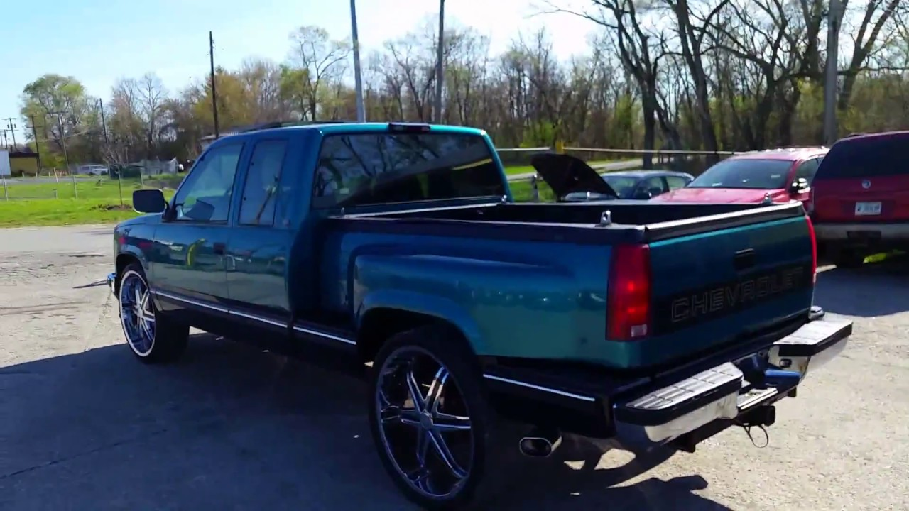 All Chevy 94 chevy stepside : 1994 Chevy Side Step Pick Up on 26s - YouTube