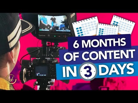 How to Batch Film Your Content (6 Months of Content in 3 Days!) thumbnail