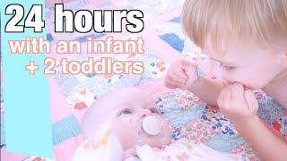 REAL LIFE 24 Hours with an Infant! | Mom of THREE | steffiethischapter