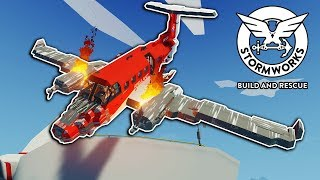 I Let OB Fly Our Plane Through a Wind Turbine! - Stormworks Multiplayer - Plane Crash Survival