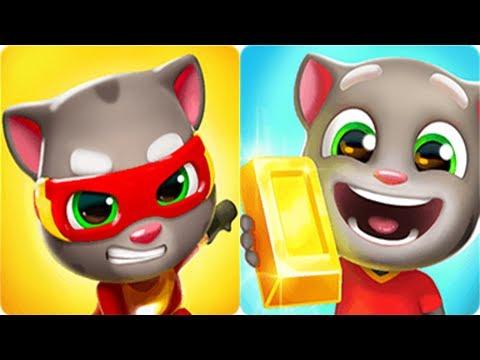 Talking Tom Gold Run vs Talking Tom Hero Dash - New Outfit7 Game