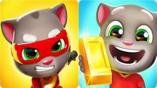 Talking Tom Gold Run vs Talking Tom Hero Dash - New Outfit7 Game