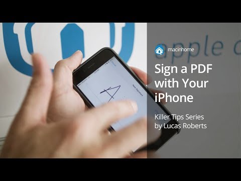 How to sign a PDF using your iPhone in 10 seconds - YouTube
