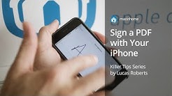 How to sign a PDF using your iPhone in 10 seconds