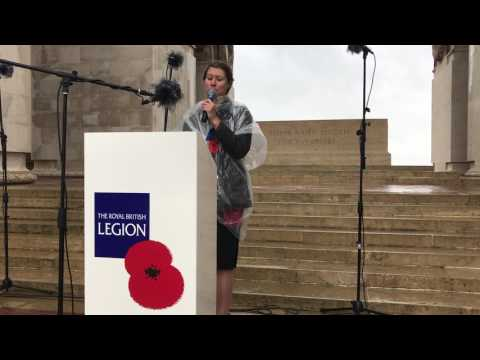 """""""Blow the Wind Southerly,"""" Emma Brown, Thiepval Memorial, Somme Commemoration"""