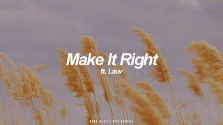 Make It Right ft. Lauv | BTS (방탄소년단) English Lyrics