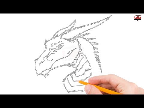 How to Draw a Dragon Head Step by Step Easy for Beginners/Kids – Simple Dragon Drawing Tutorial