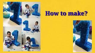 Sanju 1st Birthday#1st Birthday number decoration#Birthday decoration#how to make number 1