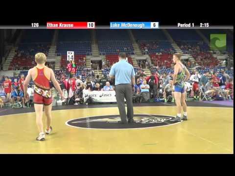126 Ethan Krause vs. Luke McDonough
