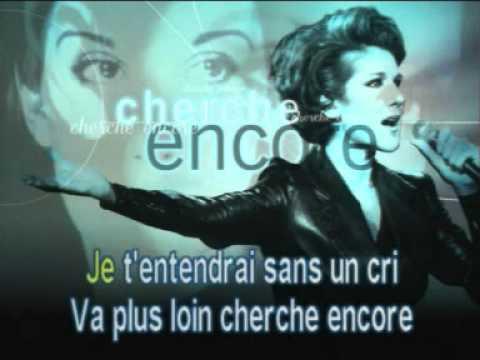 CELINE DION - DVD Karaoke Video - Cherche encore