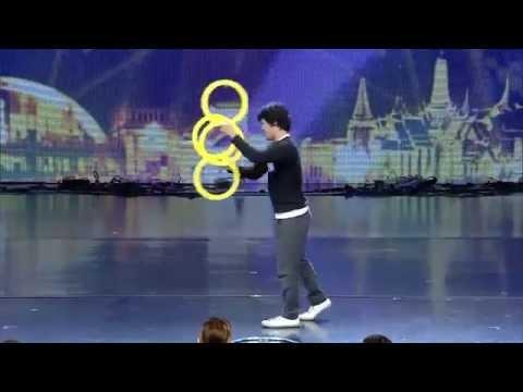 Incredible Contact Ring Juggling - Magic Rings Illusion at Thailand's Got Talent 2014