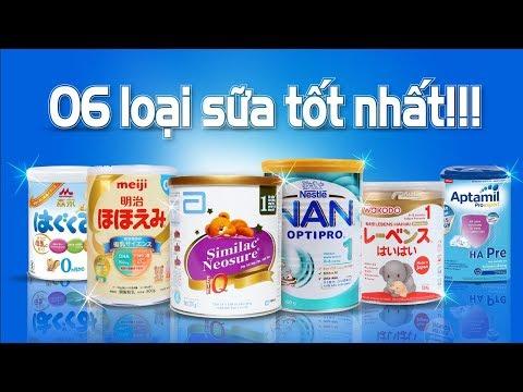 6 loại sữa cho trẻ sơ sinh tốt nhất hiện nay !!!