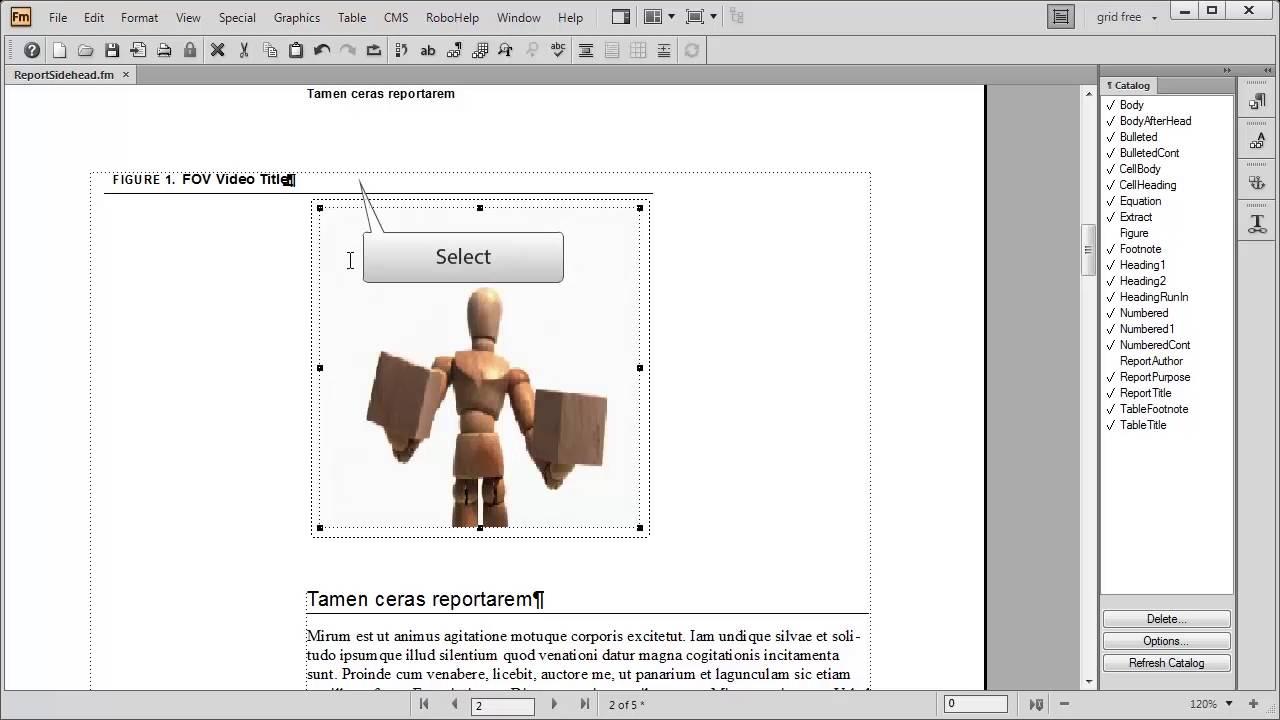 FrameMaker 11: FrameMaker 11 and video formats and controls - YouTube