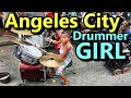 Angeles City Little Drummer Girl Street Performer Philippines