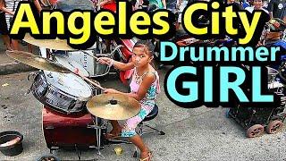 Angeles City Little Drummer Girl Street Performer Philippines
