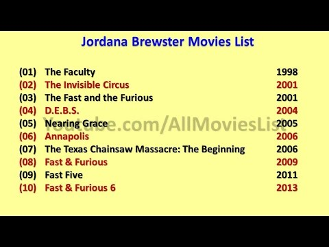 Jordana Brewster Movies List