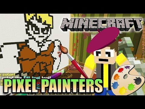 Minecraft PIXEL PAINTERS Minigame on Hypixel - What's a Charizard?