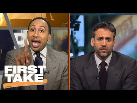 Stephen A. And Max Have Shouting Match Over NBA Playoffs | First Take | May 17, 2017
