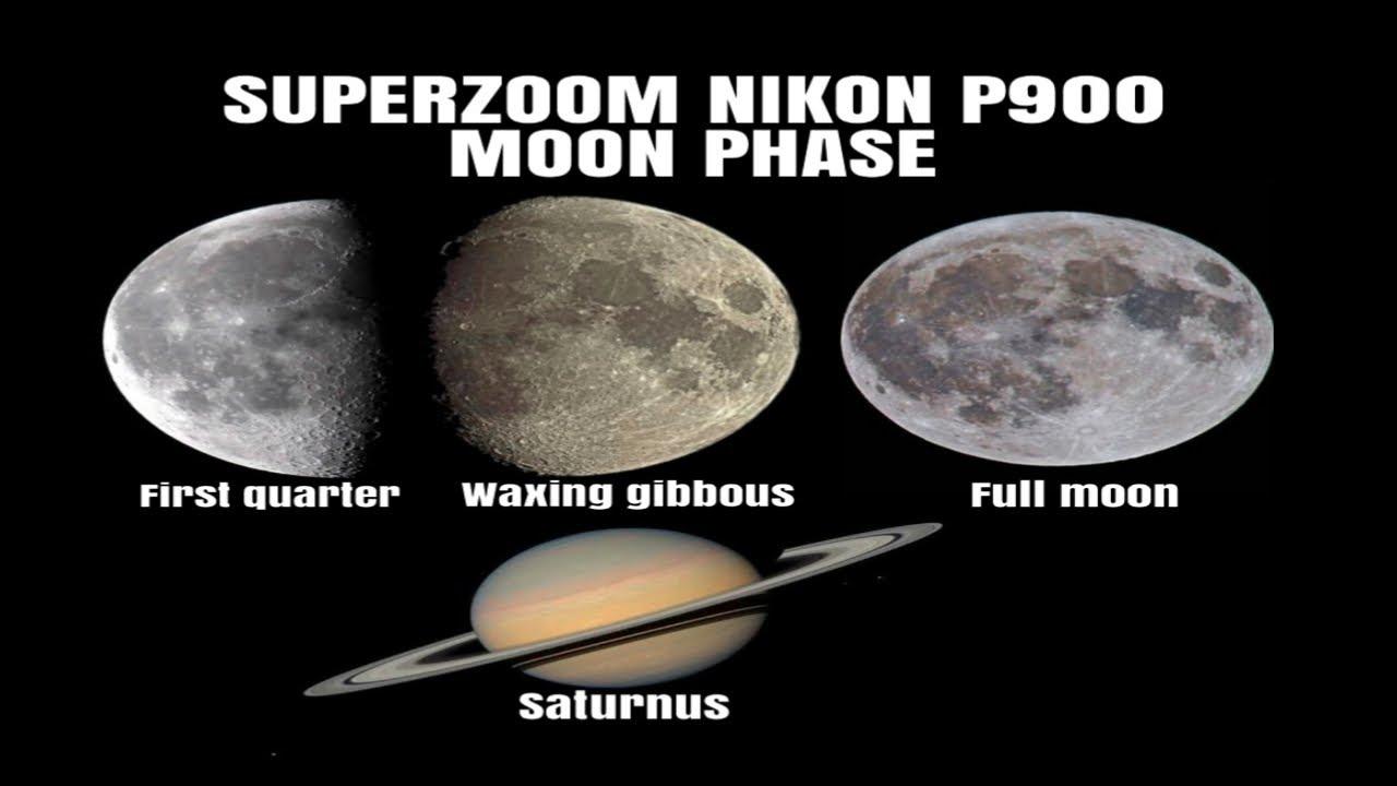SUPERZOOM NIKON P900 MOON PHASE : BULAN PURNAMA & PLANET SATURNUS !!!!
