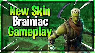 New *Brainiac* Skin + Reaper Axe (Scythe) Gameplay (Fortnite Battle Royale)