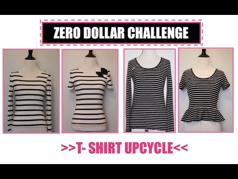 T shirt Transformation,Sewing projects for beginners