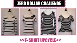 T shirt Transformation,  Sewing projects for beginners