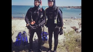 First Solo Dive - Back Beach Rockport, MA 9/6/15