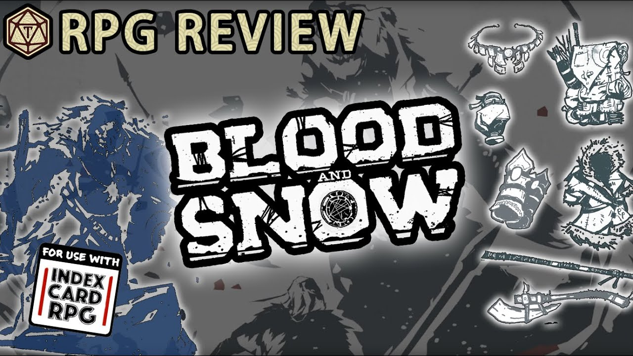 Review of Blood and Snow, an Index Card RPG setting (Runehammer Games)(001)