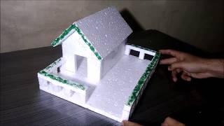 Hoe maak je gemakkelijk Thermocol huis ! DIY