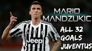 Mario Mandzukic All 32 Goals For Juventus 2015-2018