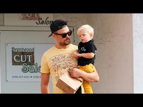 X17 EXCLUSIVE: Most Adorable Father-Son Duo, Josh Duhamel And Axl Grab Breakfast