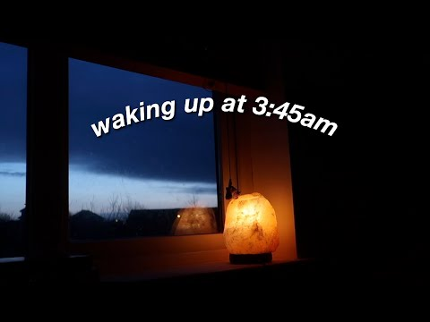 Waking Up At 3:45am For A Week