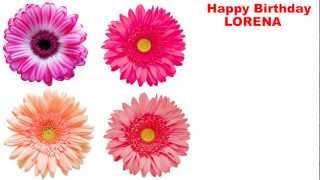Lorena - flowers - Happy Birthday