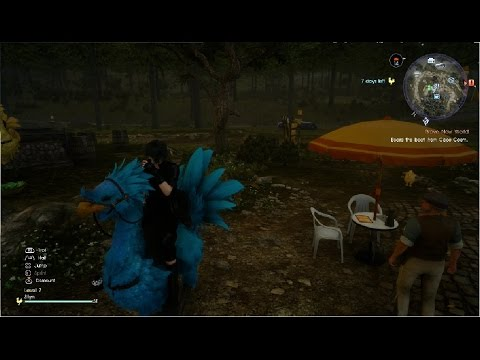 final fantasy xv secret chocobo color cerulean sky blue doman