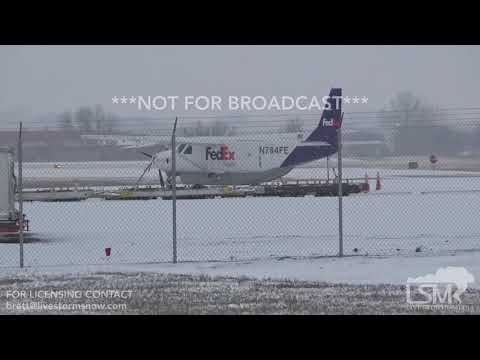 12-26-18 Sioux Falls, SD - Airport, Grounded Aircraft Due To Winter Storm