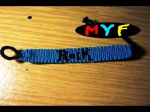 Урок №7. Прямое плетение. Фенечка с буквами