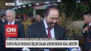 Surya Paloh Mengaku Belum Diajak Jokowi Bicara Soal Menteri