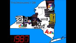 Timeline of NBC Stations in New York by Logo: 1941-2017