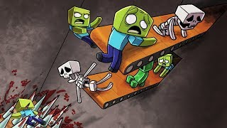 Crazy Minecraft - THE DEATH TRAP OF DOOM! (Ultimate Mob Trap)