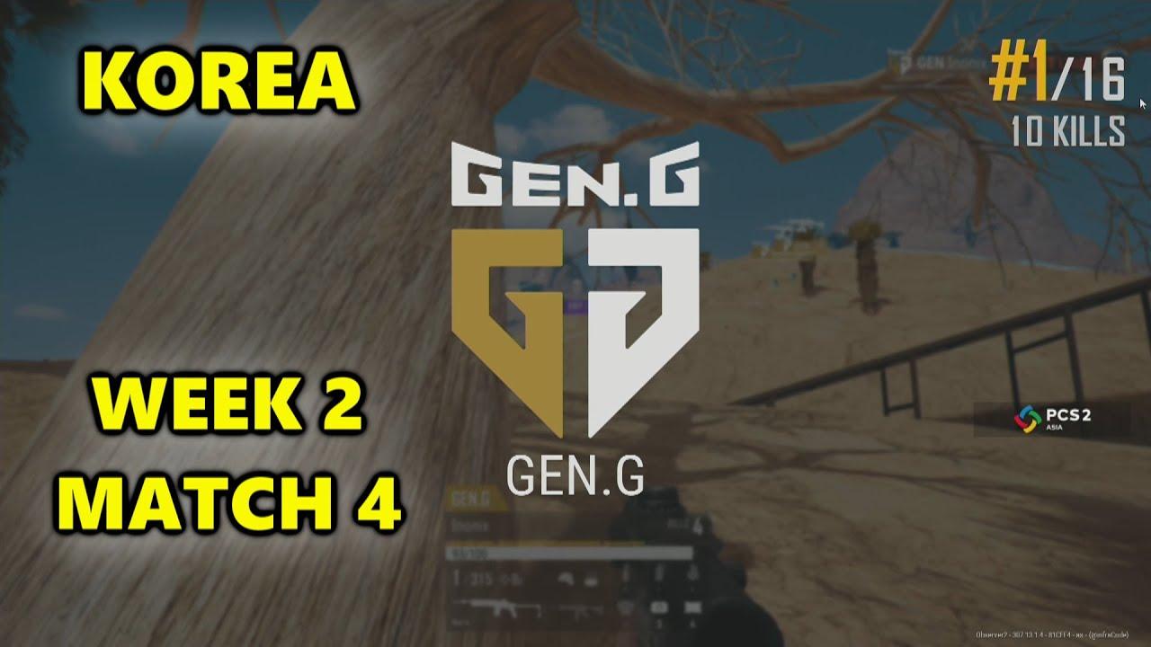GEN.G Pio, Inonix, Loki & Aqua5 - PUBG Continental Series 2 - KOREA - Week 2 Match 4