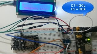 step by step : Nodemcu Esp8266 I2C lcd display