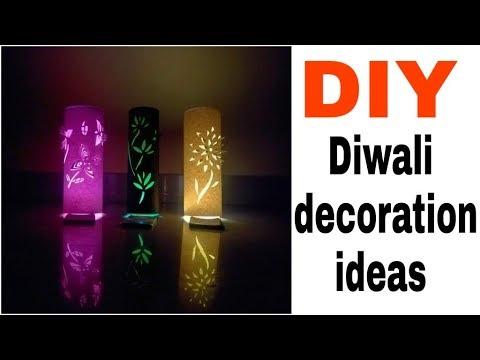 DIY  decoration ideas || diy paper lamp